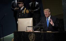 """特朗普联大演说:威胁""""彻底摧毁""""朝鲜 扬言废除伊核协议"""