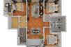 Harbor House青岛180㎡三室两厅,每平米都搭出了复古高级感!